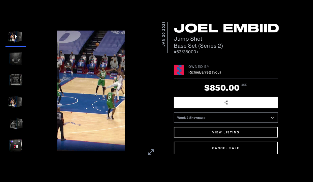 Joel Embiid #53 - NBA Top Shot
