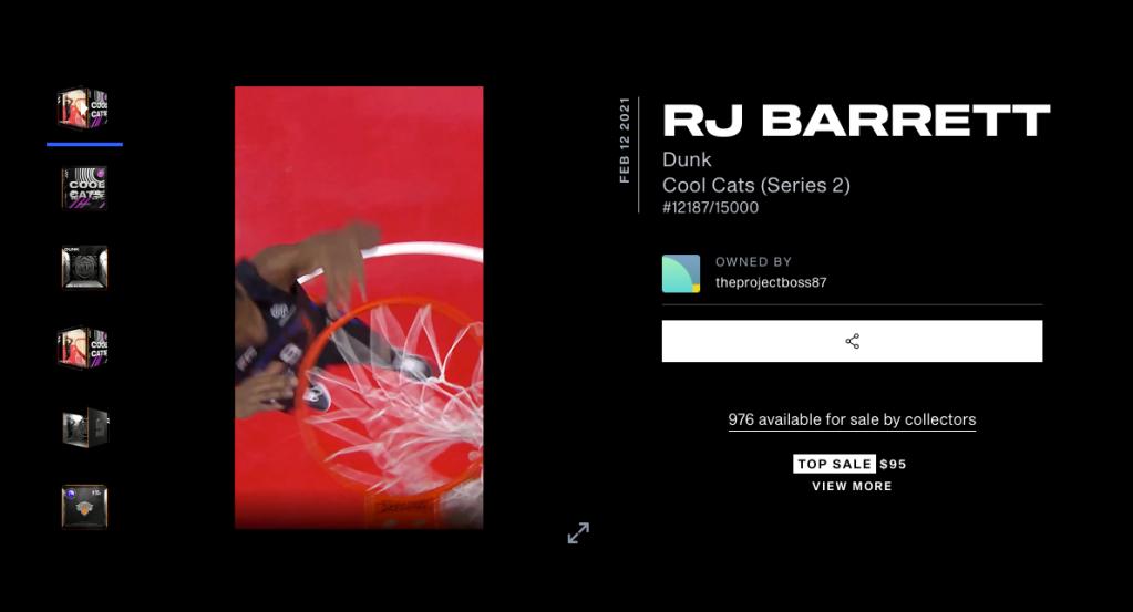 RJ Barrett Cool Cats Series 2